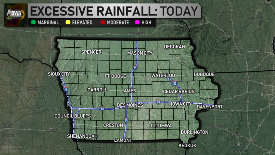 Day 1 excessive rainfall outlook