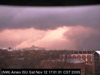Ames Tornado Looking NW (Tornado is on the right)