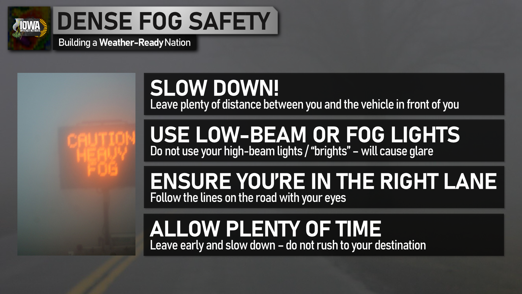 Dense fog safety tips