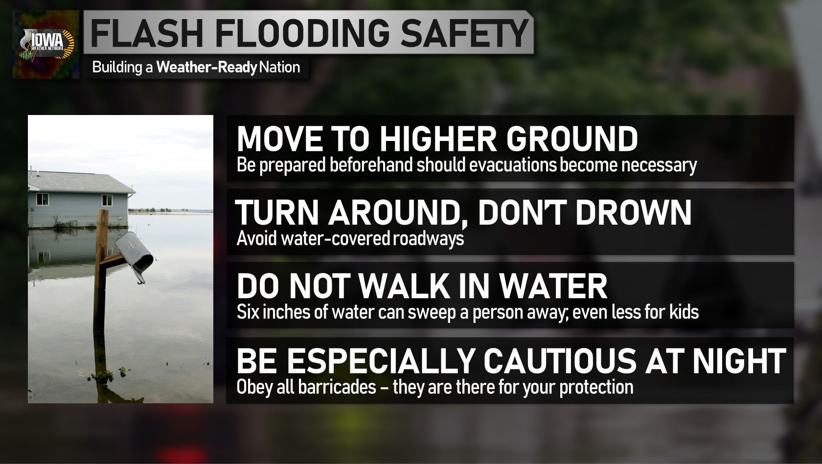 Flash flooding safety tips