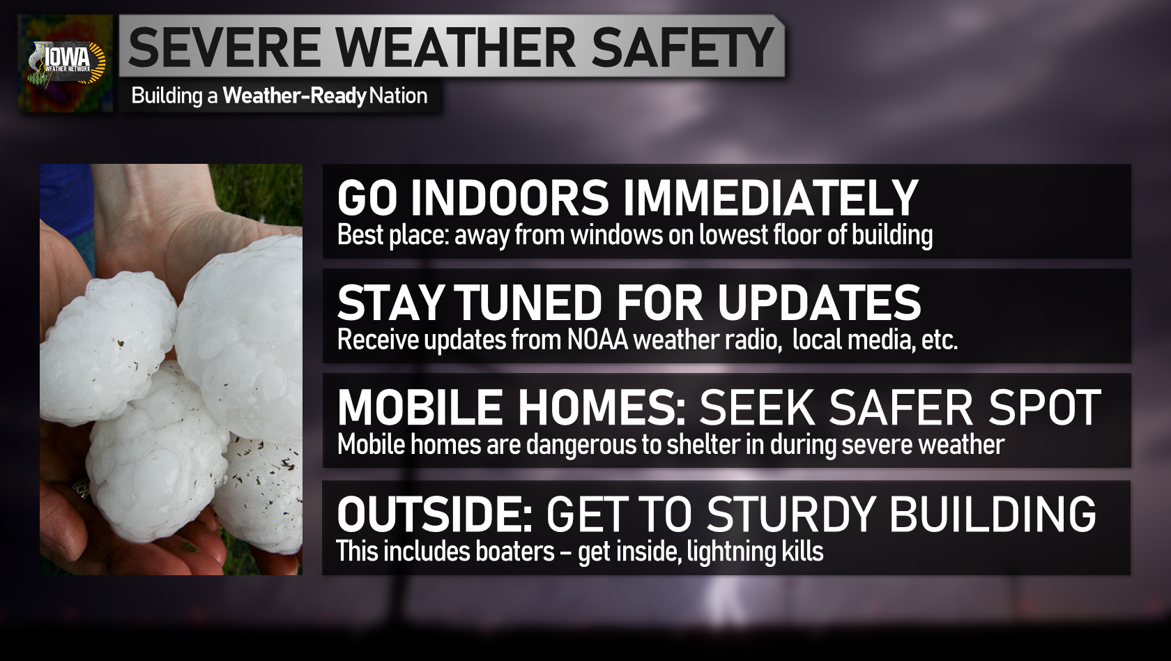 Severe weather safety tips