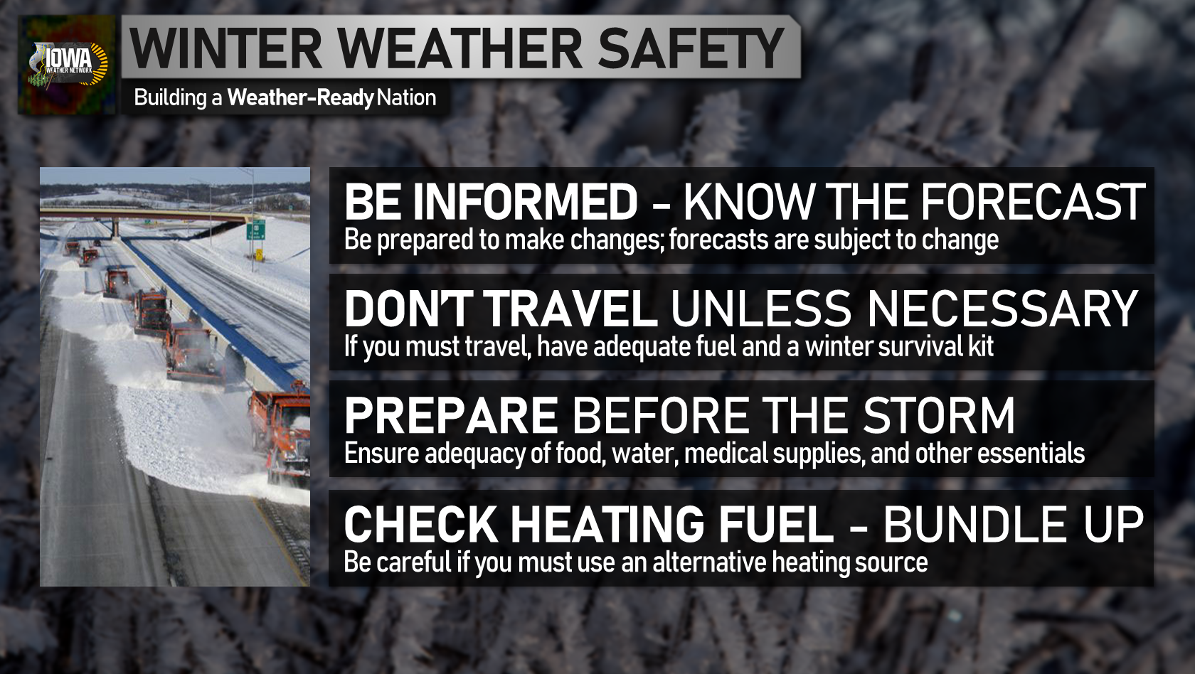 Winter weather safety tips